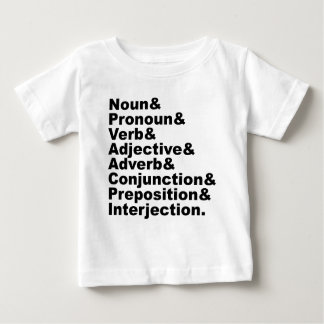 The 8 Parts of Speech in the English Language Baby T-Shirt