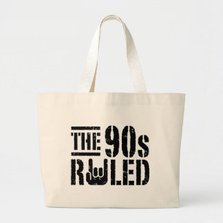 The 90s Ruled Tote Bags