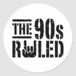 The 90s Ruled Classic Round Sticker