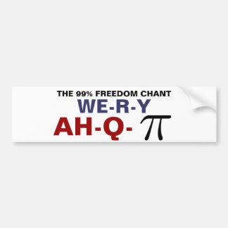 THE 99% FREEDOM CHANT BUMPER STICKER