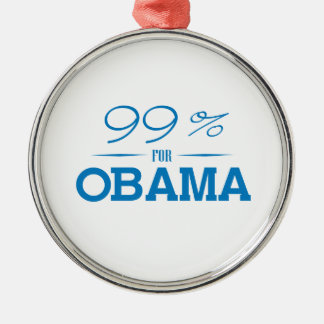 THE 99 PERCENT FOR OBAMA -.png Ornament