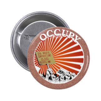 The 99 percent Occupy 2 Inch Round Button