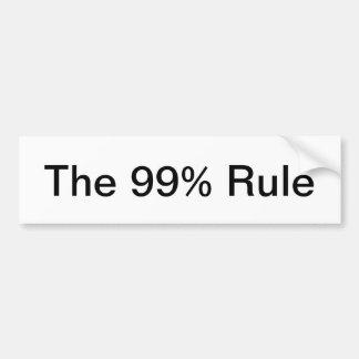 the 99% rule bumper sticker