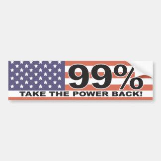 The 99% - Take the Power Back Bumper Sticker Car Bumper Sticker