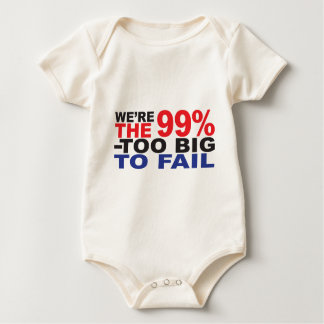 The 99% - Too Big to Fail Baby Bodysuit