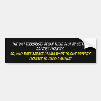 The 9/11 terrorists began their plot by getting... bumper sticker