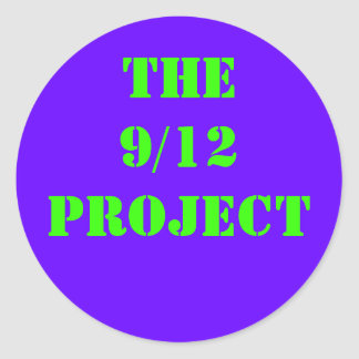 The 9/12 PROJECT Round Stickers