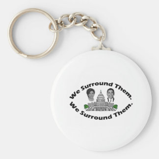 """The 9-12 Project - """"We Surround Them"""" Basic Round Button Keychain"""