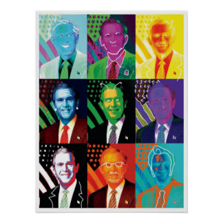 The 9 Faces of Bush Poster