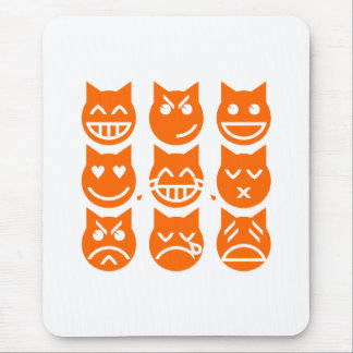 The 9 Lives of the Emoji Cat Mouse Pad