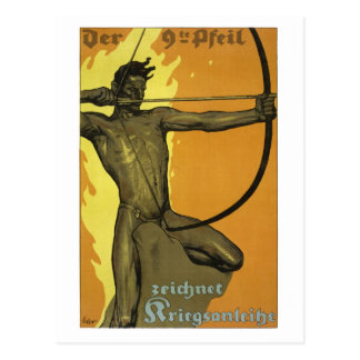 The 9th arrow, Austrian art nouveau world war I Postcard