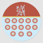 The A Spot Round Stickers
