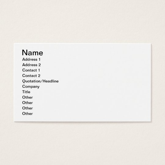 The Ababda, Nomads of the Eastern Thebaid Desert, Business Card