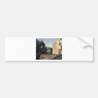 The Abandoned House by Paul Cezanne Bumper Sticker