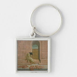 The Abandoned (oil on panel) Keychain