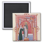 The Abbess Hilda offering 2 Inch Square Magnet