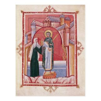 The Abbess Hilda offering Postcard