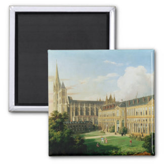 The Abbey Church of Saint-Denis 2 Inch Square Magnet