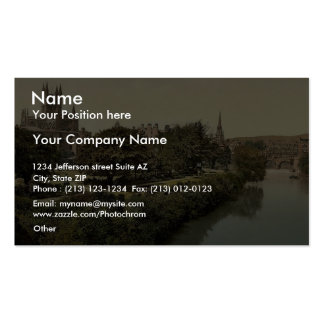 The Abbey, from the bridge, Bath, England vintage Double-Sided Standard Business Cards (Pack Of 100)
