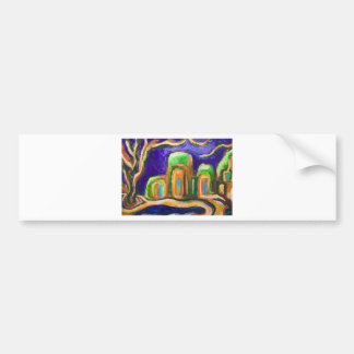 The Abbey in the Jungle (abstract landscape) Bumper Sticker