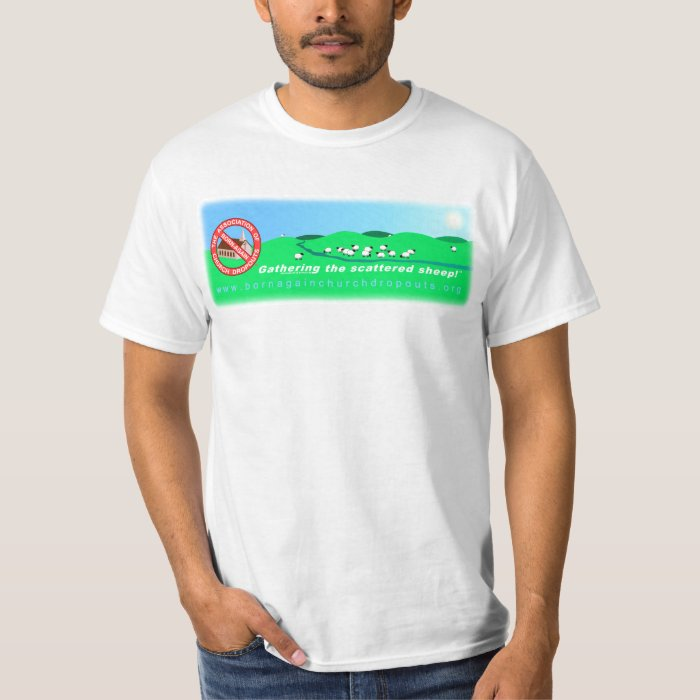 The ABCD Banner on white t-shirt