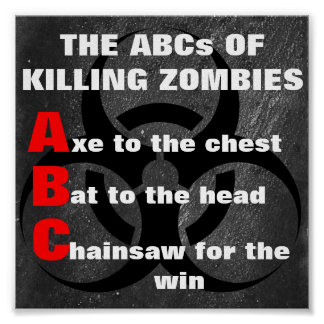 THE ABCs of ZOMBIE KILLING Poster