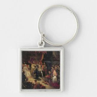 The Abdication of Charles V  1841 Keychain