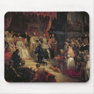 The Abdication of Charles V  1841 Mouse Pad