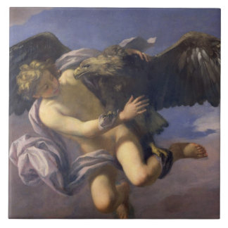 The Abduction of Ganymede, 1700 (oil on canvas) Ceramic Tile