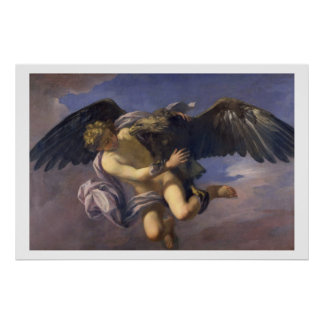 The Abduction of Ganymede, 1700 (oil on canvas) Poster