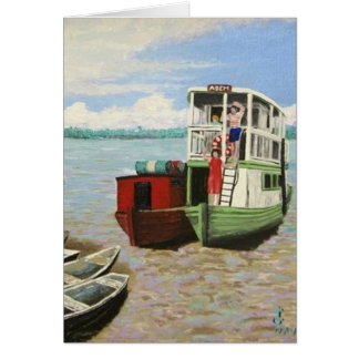 The ABEM Heading Out On The Peruvian Amazon Greeting Card