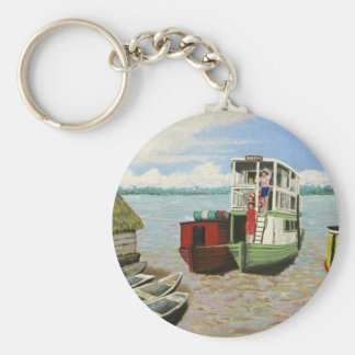 The ABEM Heading Out On The Peruvian Amazon Basic Round Button Keychain