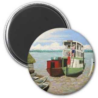 The ABEM Heading Out On The Peruvian Amazon 2 Inch Round Magnet