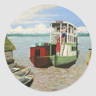 The ABEM Heading Out On The Peruvian Amazon Classic Round Sticker