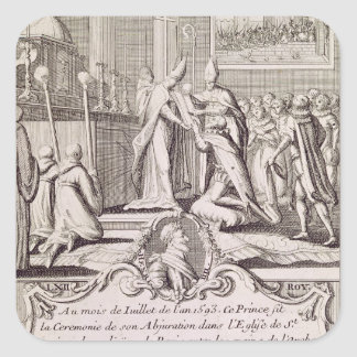 The Abjuration of Henri IV Square Stickers
