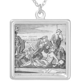 The Able Doctor, or America Swallowing Silver Plated Necklace