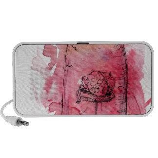 The Abnormal Brain Watercolor Design iPod Speaker