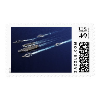 The Abraham Lincoln Carrier Strike Group ships Postage Stamp