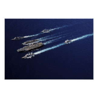 The Abraham Lincoln Carrier Strike Group ships Poster