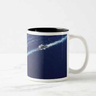 The Abraham Lincoln Carrier Strike Group ships Two-Tone Coffee Mug