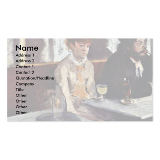 The Absinthe By Edgar Degas Business Cards