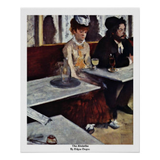 The Absinthe By Edgar Degas Poster