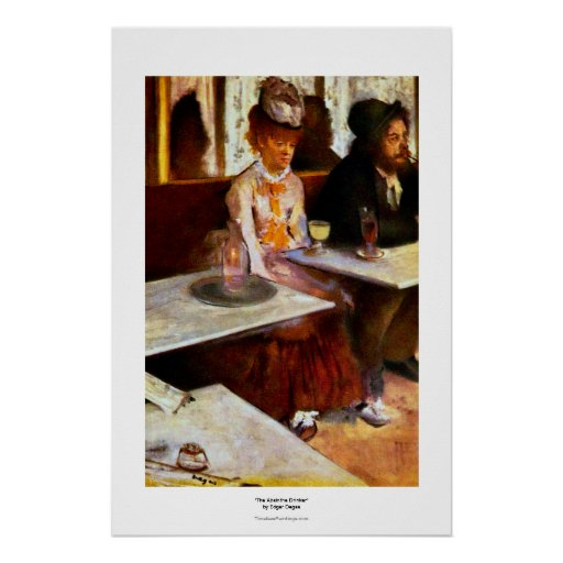 The Absinthe Drinker L'Absinthe Degas painting art Poster