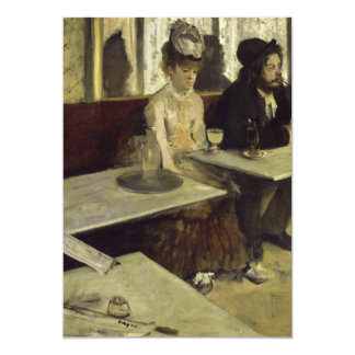 The Absinthe Drinker or L'Absinthe by Edgar Degas Card