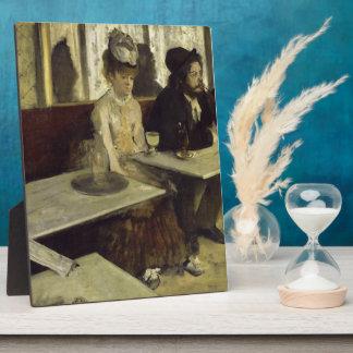 The Absinthe Drinker or L'Absinthe by Edgar Degas Plaque