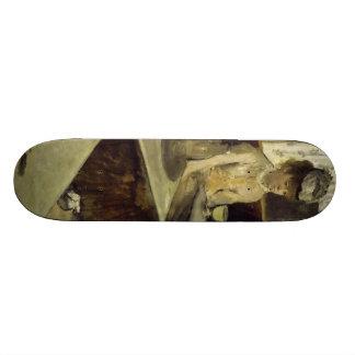 The Absinthe Drinker or L'Absinthe by Edgar Degas Skateboard Deck
