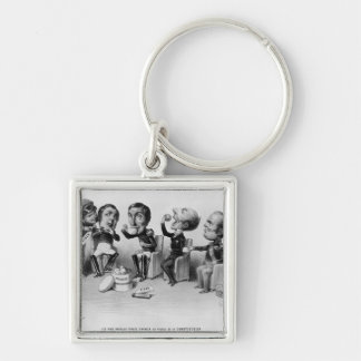 The Absolute Kings Forced to Swallow the Pill Silver-Colored Square Keychain