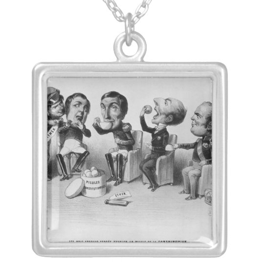 The Absolute Kings Forced to Swallow the Pill Silver Plated Necklace