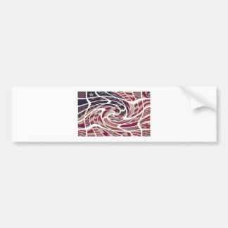 THE ABSTRACT AMERICAN BUMPER STICKER