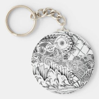 The Abstract Art of Michael Pearson Basic Round Button Keychain